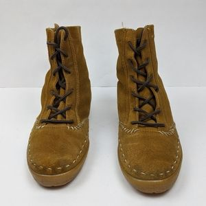 Keds Shoes - Keds Brown Suede Moccasin Lace Up Boots